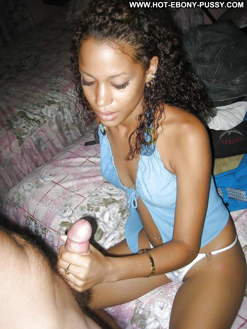 Black girlfriend blowjob