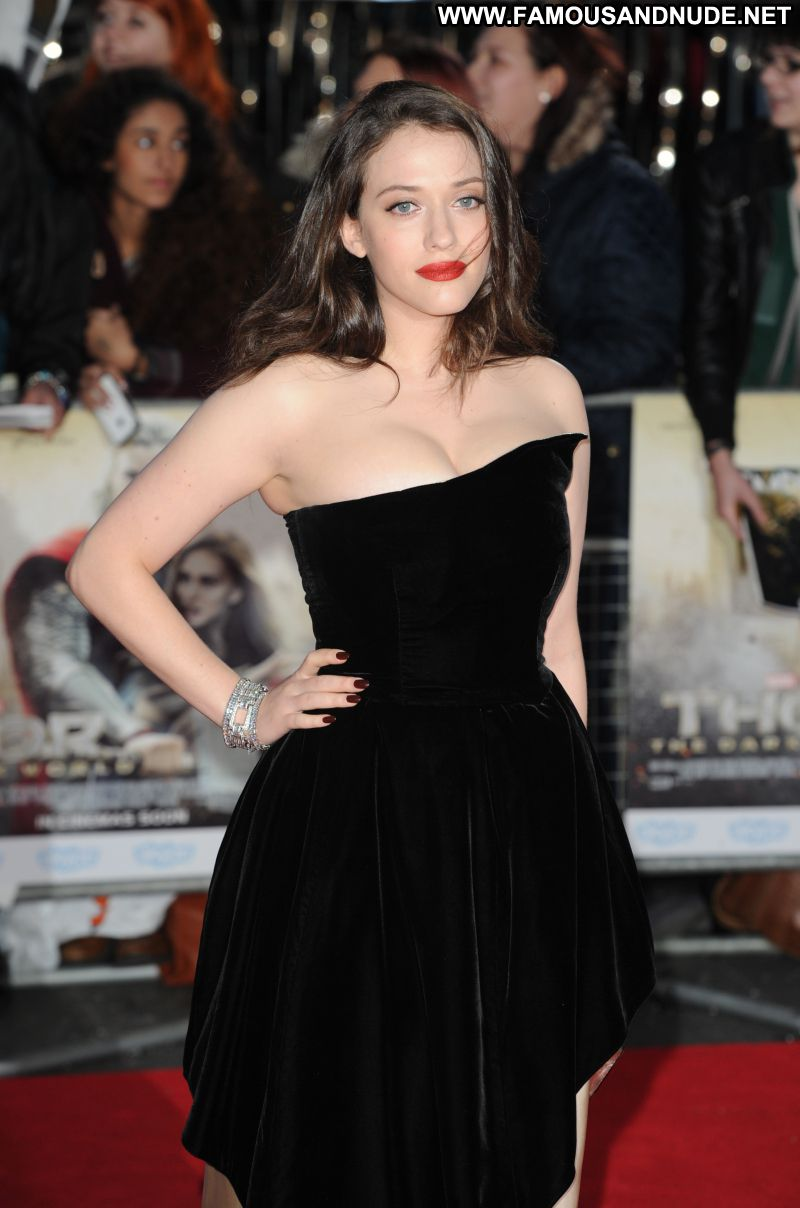 Kat Dennings Celebrity Sexy Big Tits Brunette Showing Cleavage Babe Red Carpet