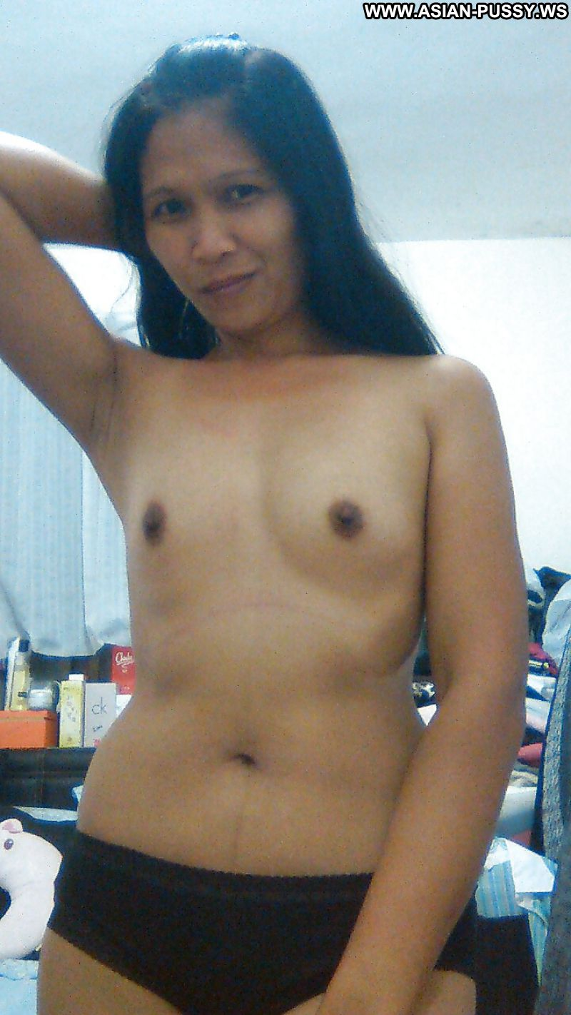 Amazing nipples on small breast asian milf!