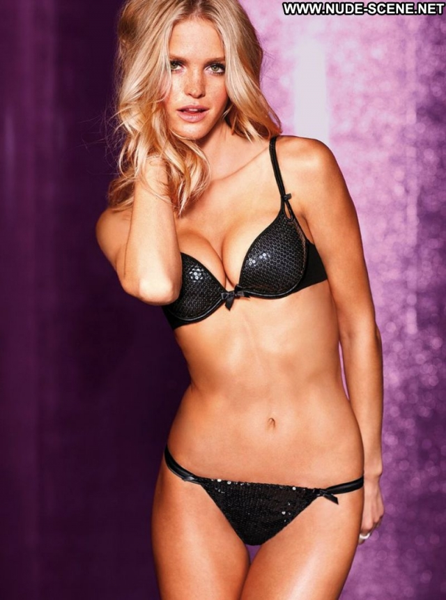 Erin Heatherton Slim Blonde Panties Bra Lingerie Babe Green Eyes
