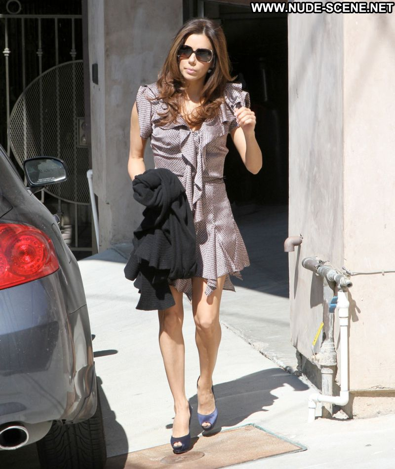 Eva Longoria Celebrity Sexy Actress Latina Cute Babe Sexy Dress Showing Legs Glasses Paparazzi