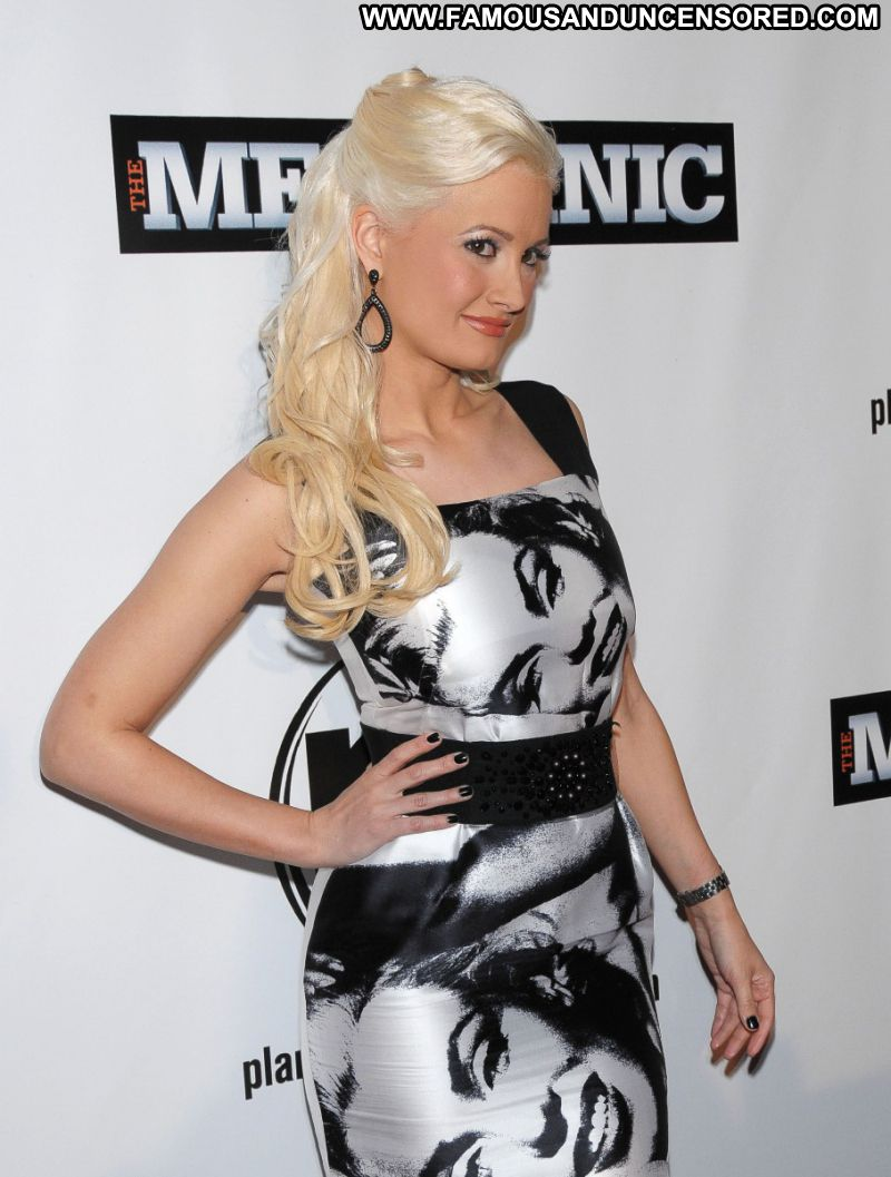 Holly Madison Celebrity Sexy Playmate Blonde Big Tits Doll Posing Hot Sexy Dress Beautiful