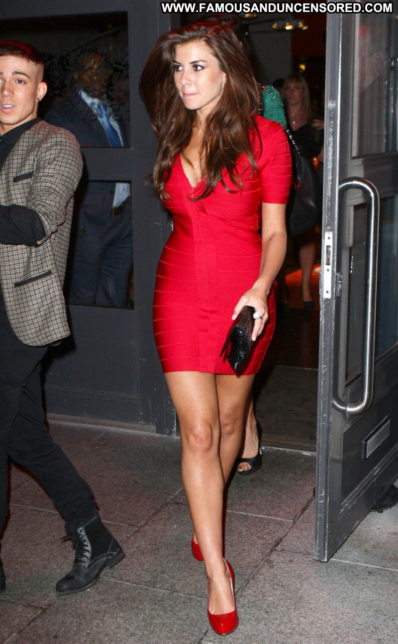Imogen Thomas Celebrity Sexy Bombshell Brunette Big Tits Hot Doll Showing Legs Sexy Dress
