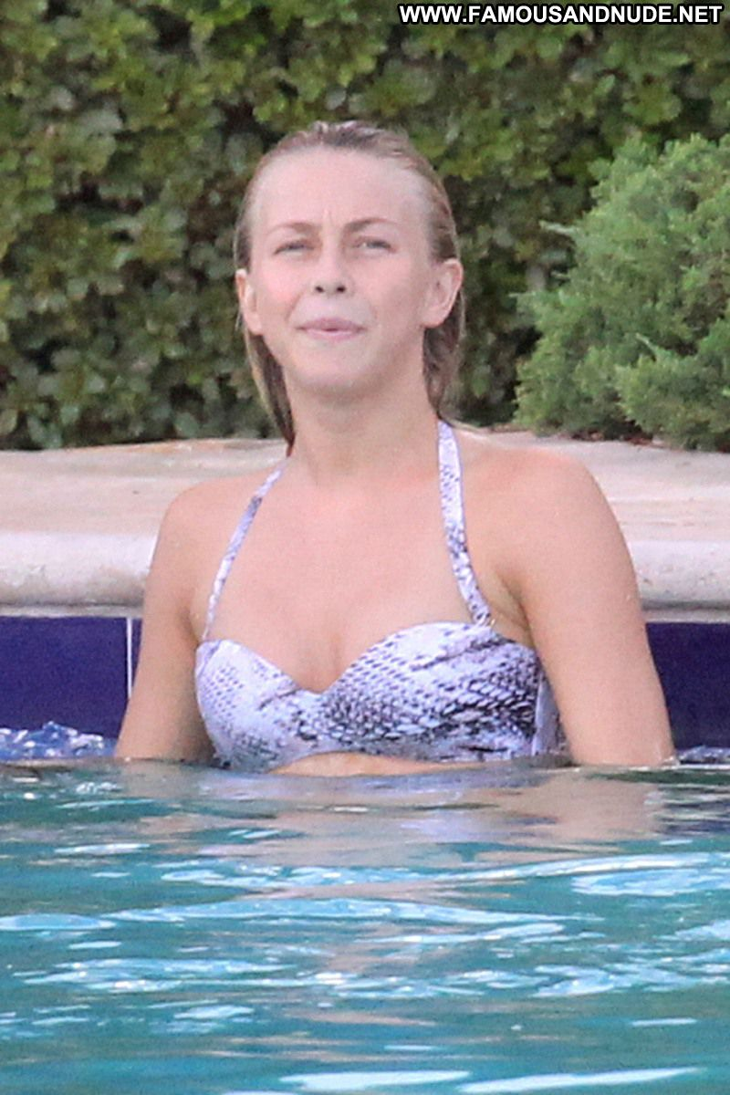 Julianne Hough Celebrity Sexy Actress Blonde Hot Doll Pool Bikini