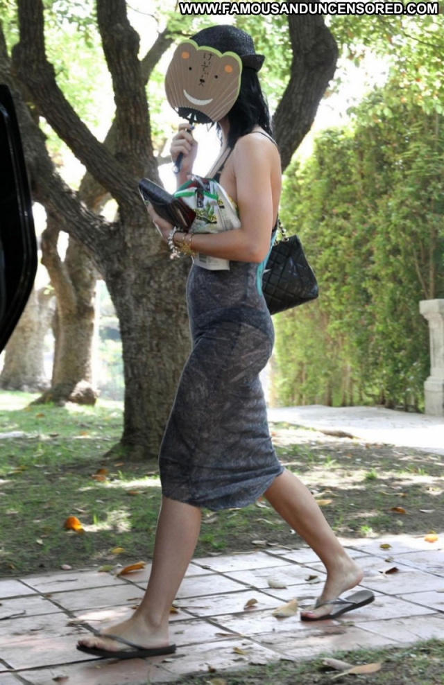 Katy Perry Babe Posing Hot Celebrity See Though Paparazzi Brunette