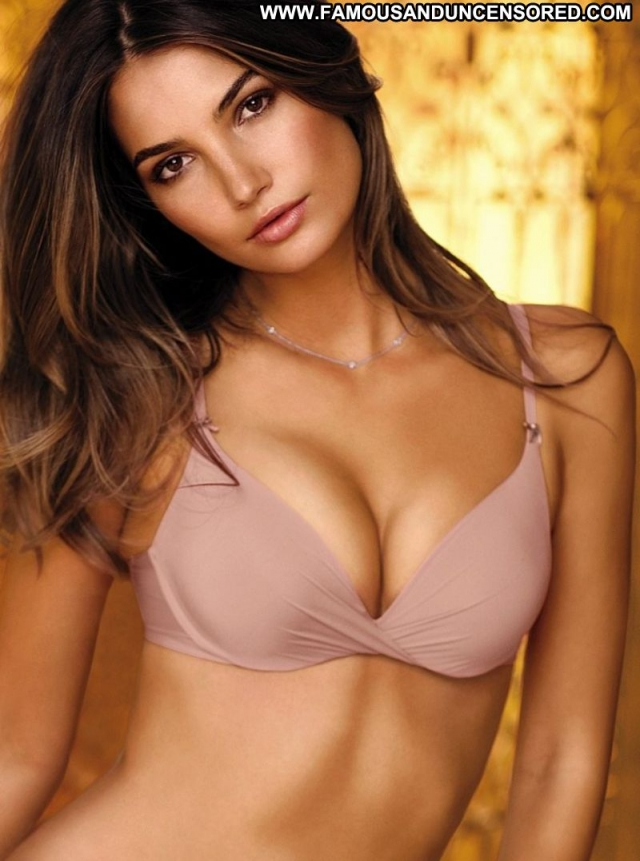 Lily Aldridge Babe Beautiful Brown Hair Supermodel Lingerie Celebrity