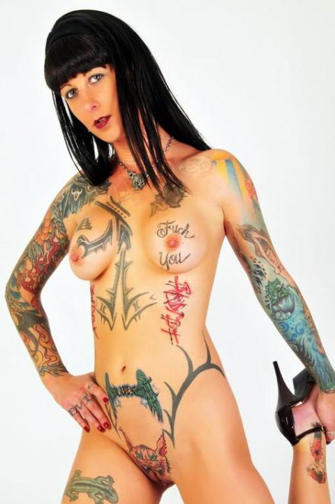 Extreme tattoos and piercings nude