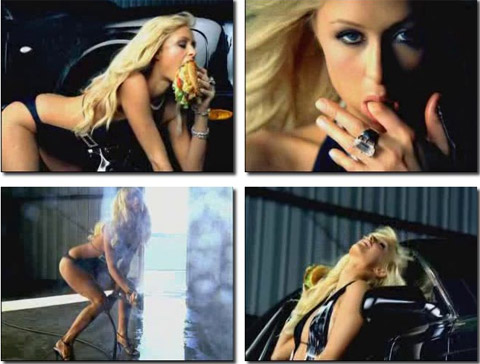 Paris Hilton Burger Commercial Sexy Scene Blonde Athletic.