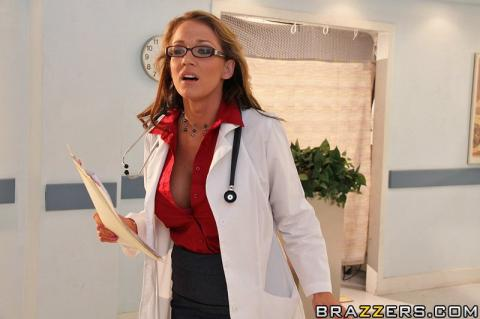 Nikki Sexx Doctor Barbie Bra Uniform Showing Tits Posing Hot