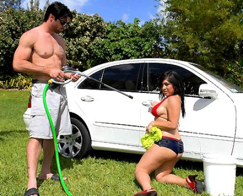 Jene Car Wash Natural Tits Videos Car Huge Tits Cumshot Slut