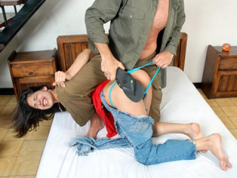 Gia Pasion Small Ass Spank Chick Spa Ripping Clothes Abuse