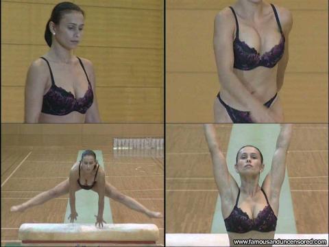 Lavinia Milosovici Nude Sexy Scene Romanian Gymnast Gym Nice