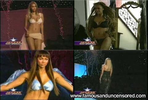Tyra Banks Nude Sexy Scene Access Hollywood Lingerie Model
