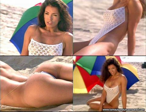 Sharon Bruneau Magazine Swimsuit Couple See Through Thong Hd