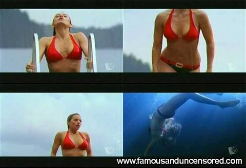 Erica Durance Nude Sexy Scene Smallville Jumping Lake Wet Hd