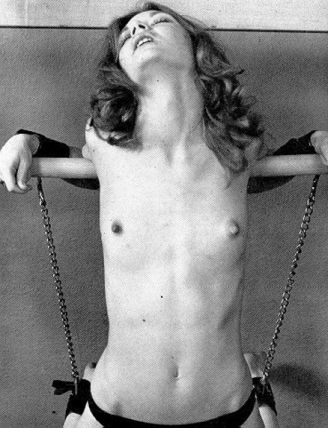 Retro vintage amateur bondage