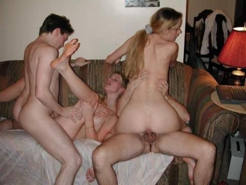 Homemade bi orgy the