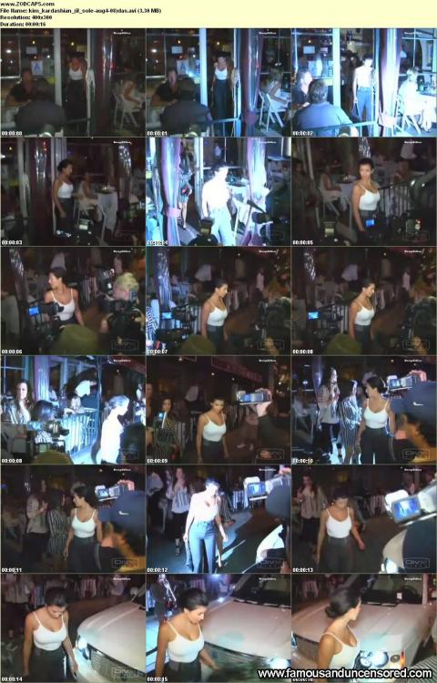 Kim Kardashian Nude Sexy Scene Restaurant Posing Hot Actress