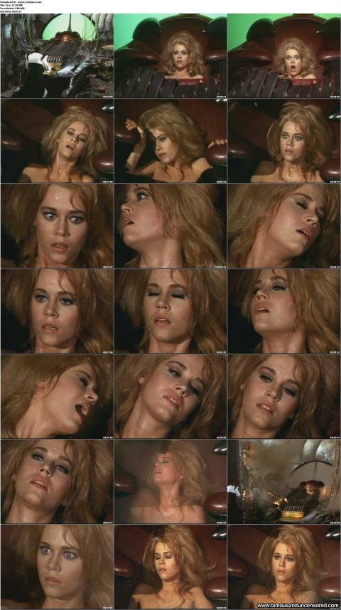 Jane Fonda Nude Sexy Scene Barbarella Orgasm Posing Hot Doll