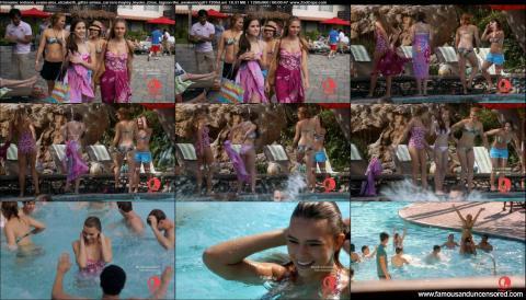 Hayley Kiyoko Blue Lagoon The Awakening Pool Swimsuit Tanned