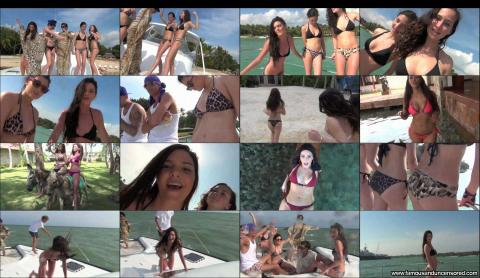 Kim Kardashian Nude Sexy Scene Boat Dancing Stunning Bikini