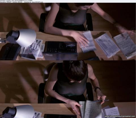 Angelina Jolie Nude Sexy Scene Hackers Desk See Through Babe