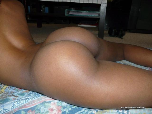 Big black booty self shot ass