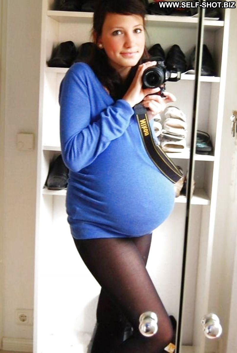Pregnant women in tights