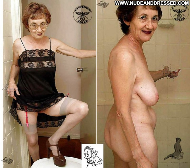 Several Amateurs Granny Softcore Nude Dressed And Undressed