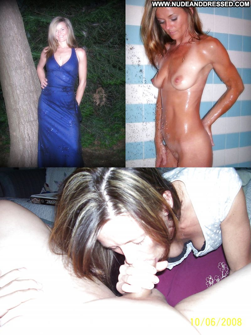Amateurs dressed and undressed blowjob