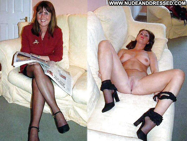 and stockings undressed dressed Amateur
