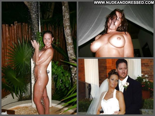 Several Amateurs Bride Posing Hot Beautiful Teasing Female