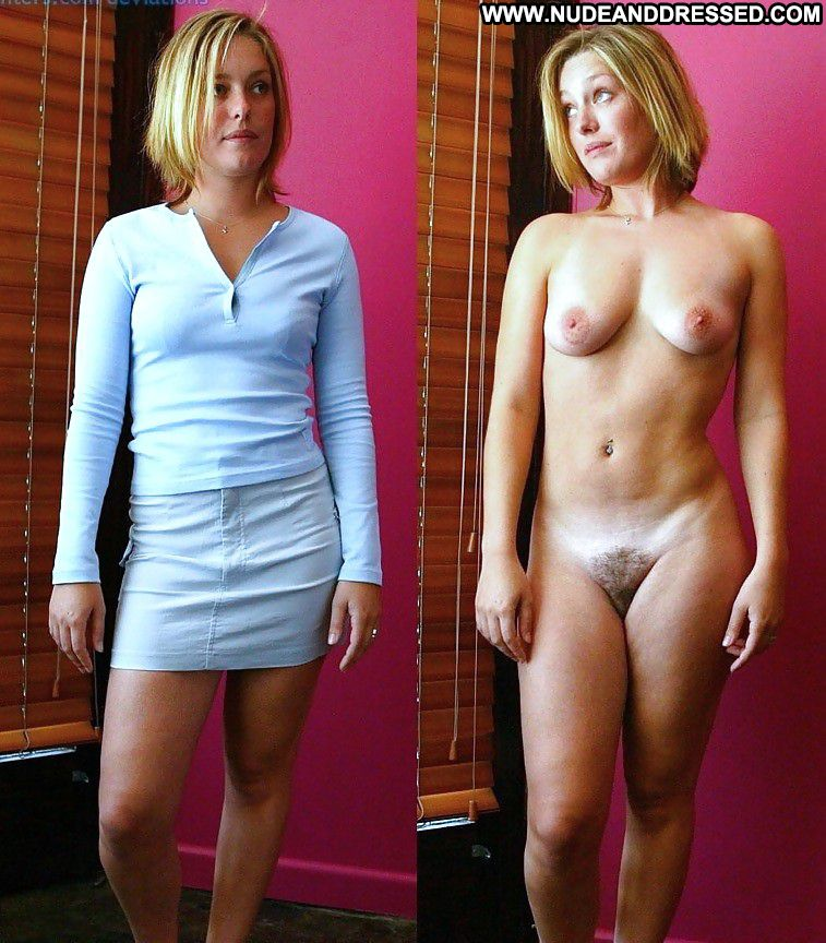 Short hair wife dressed undressed well, not